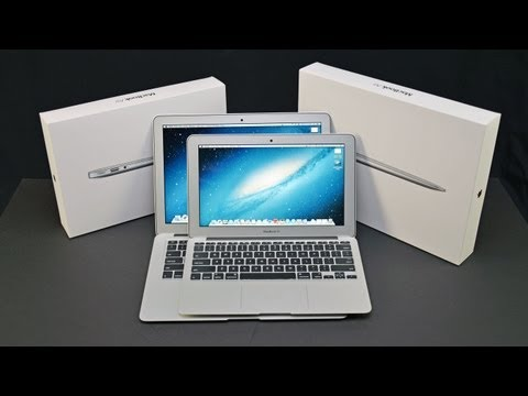 macbook Air - Detailed unboxing & comparison of the 2013 MacBook Air 11 & 13 with Haswell ULT CPUs and 802.11ac WiFi. Amazon: http://goo.gl/5SBFN 11-inch = $999 13-inch= $...