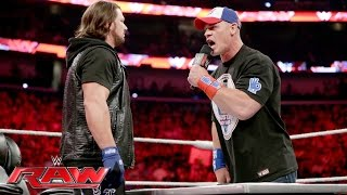John Cena And AJ Styles Make Their WrestleManiaworthy Dream Match Official Raw June 13 2016