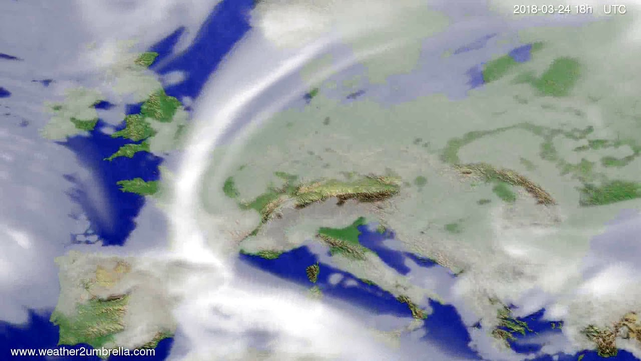 Cloud forecast Europe 2018-03-21