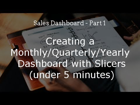 Sales Dashboard Part 1 - Creating a Monthly/Quarterly/Yearly Dashboard with Slicers (Pivot Tables)