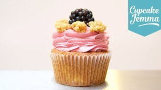Apple & Blackberry Crumble Cupcake Recipe | Cupcake Jemma by Cupcake Jemma