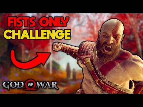 I tried beating God of War Fists Only