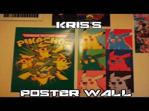 Kris's Poster wall (FT. JIBBU) and How to hang up a poster with Artist Tape
