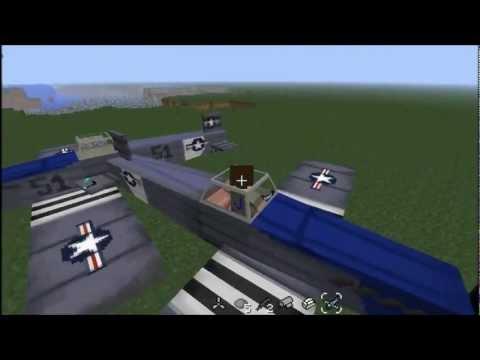 Minecraft - Planes Mod Spotlight (Svenska)
