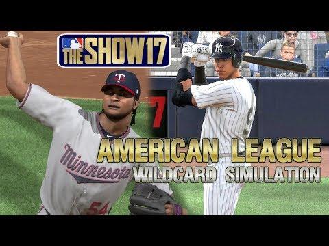 MLB The Show 17 | 2017 American League Wildcard Playoff Sim Minnesota Twins vs New York Yankees