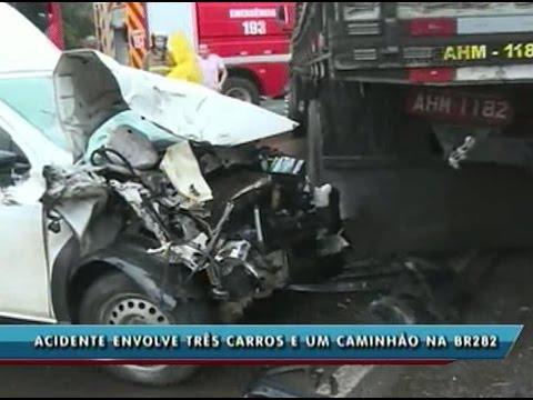 Acidente mata duas pessoas em Cordilheira Alta