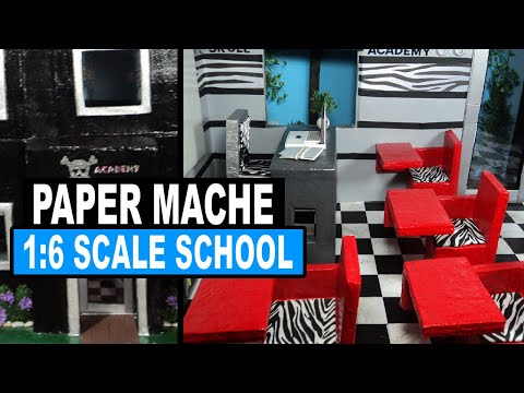 How to Make a Monster High Doll School & Dorm