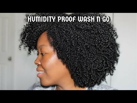 Hair color - Humidity Proof Wash N Go for Big Fluffy Curls  Type 4 Hair Friendly
