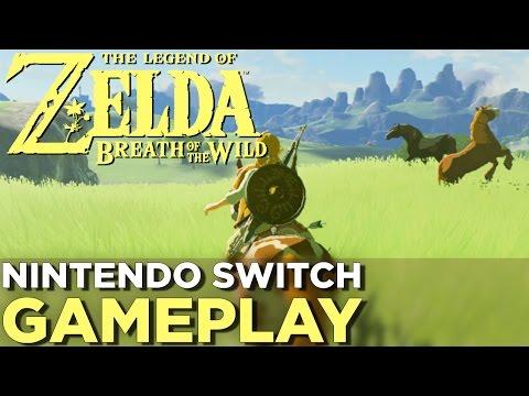 17 Minutes of THE LEGEND OF ZELDA: BREATH OF THE WILD Nintendo Switch Gameplay (видео)