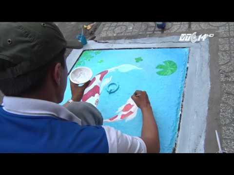 (VTC14)_Ông Đoàn Ngọc Hải đề nghị vẽ tranh trên nắp cống ở quận 1