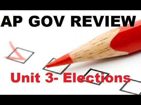 AP Gov Review - Campaign Finance, PACs, State Elections  - Elections, Unit 3, Parts 4 and 5