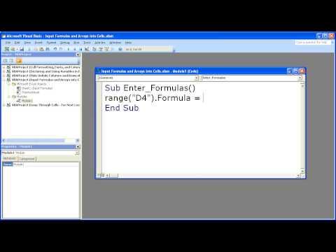 Excel VBA – Formulas