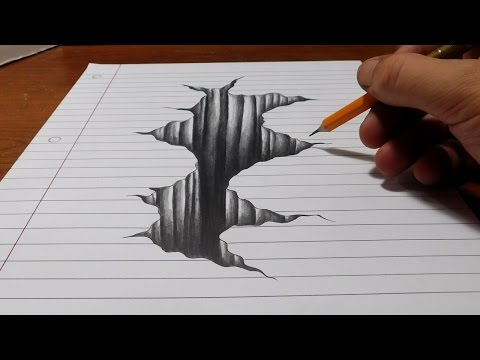 Video Trick Art on Line Paper - Drawing 3D Hole download in MP3, 3GP, MP4, WEBM, AVI, FLV January 2017