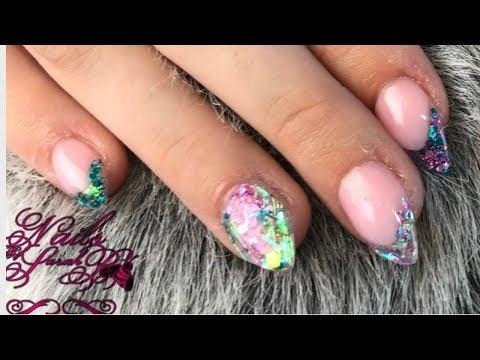 Acrylic nails - Acrylic - Short Almond Mermaid Nails