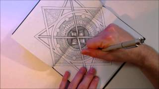Drawing a magic star (A birds eye view of the great temple)