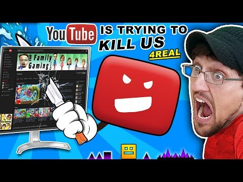 YOUTUBE TRYING TO KILL OUR CHANNEL! FGTEEV vs. Troll @ Google HQ CONSPIRACY!! GEOMETRY DASH & ROBLOX (видео)