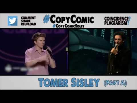 Tommy Sisley has been ripping off other comedians' jokes off down to the gesture