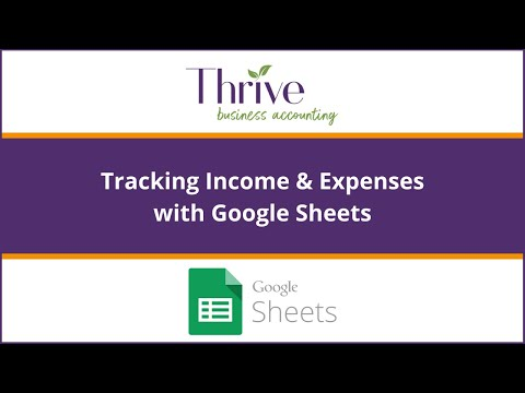 Keep Track of Income and Expenses with this Handy Google Document