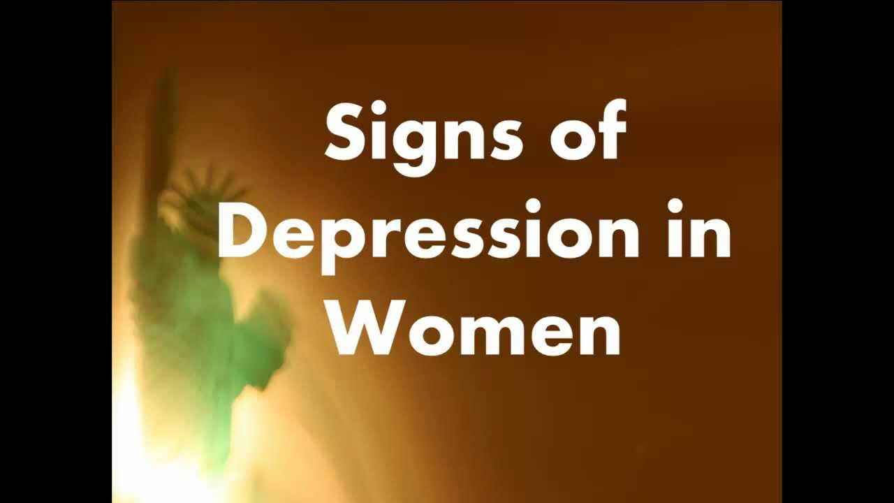Signs of Depression in Ladies