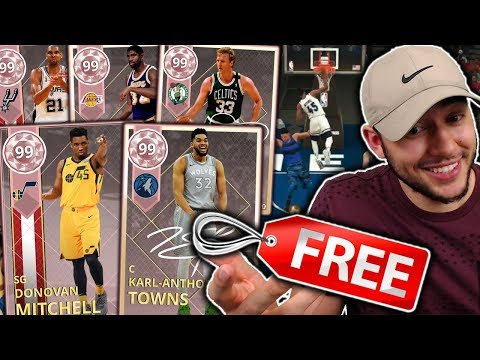 100% FREE PINK DIAMOND STARTING LINEUP! EXPOSING 5-OUT CHEESER! NBA 2K18 MyTeam