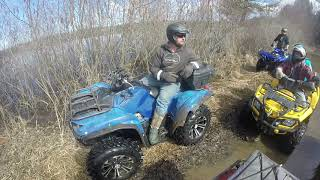 9. Round Lake ATV Poker Run 2019 | Kodiak 450 IN DEEP WATER |