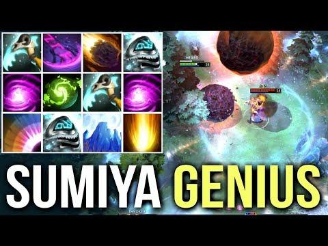 SumiYa Genius Invoker! No Escape 10 Skill Refresher Combo Epic Triple Stack Farm 7.06f Dota 2