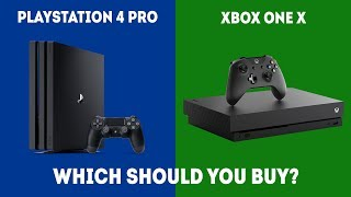 PlayStation 4 Pro vs XBOX One X - Which Console Should You Choose? [2019 Edition]