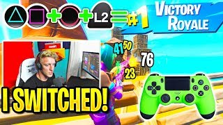 Tfue *OFFICIALLY* Switches To CONTROLLER! FaZe SWAY REACTS! (Fortnite)