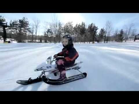 видео снегокат