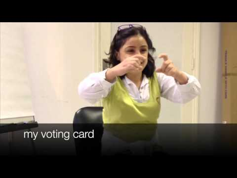 Image of the video: Self-advocate from Lebanon: Accessing the Ballot Box