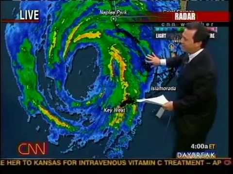 Hurricane Wilma Landfall Coverage Part 1: 10/24/2005 - CNN
