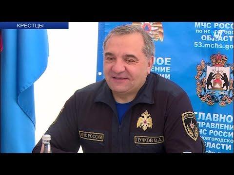 С рабочим визитом в Новгородской области сегодня находился глава МЧС Владимир Пучков