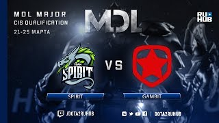 Spirit vs Gambit, MDL CIS, game 1 [4ce]