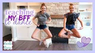 """I teach my best friend Lily some basic dance steps and I challenge her to copy all of the dance moves!♥  SUBSCRIBE!   http://bit.do/karlireeseI post new videos every Friday!Watch my last video - https://youtu.be/RZOFpUwsRQo1 Year Ago - https://youtu.be/S6WfdYtxssUDaily videos at my Our Family Nest - http://youtube.com/ourfamilynestMy Mom's Channel - http://bit.ly/2ffeAACMy Dad's Channel - http://bit.ly/2gh00roAndrew's Channel - I am Drew -  http://youtube.com/iamdrew95♥ FOLLOW ME ♥i  n  s  t  a  g  r  a  mhttp://instagram.com/karlireeset  w  i  t  t  e  rhttp://twitter.com/karlireesem u s i c a l y . l y24_karkar_24f  a  c  e  b  o  o  k http://facebook.com/iamkarlireeseb  l  o  g   http://karlireese.com*************************************************************♥ BUSINESS INQUIRIES ♥mail@ourfamilynest.com - Subject Line """"KarliReese""""*************************************************************Thank you for watching my video today! You can also find me on our family's channel - Our Family Nest.  On my channel you will find more of what I love... shopping, crafts, dance, gymnastics, and my pets…Pretty much anything girly! Thank you for stopping by and I hope you have fun here on my channel.Note... My YouTube channel is monitored and ran by my parents :)♥ Karli ReeseSome Music in videos by Epidemic Sound - http://www.epidemicsound.com"""