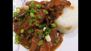 I made this Mongolian Beef Recipe using my Slow Cooker. It doesn't get much easier than this recipe. While I wouldn't consider it Authentic Asian Cuisine, it was very tasty. Here is a link to the recipe that inspired me to make this Slow Cooker Mongolian Beef Recipe.https://therecipecritic.com/2015/08/slow-cooker-mongolian-beef/She has a lot of great recipes on her website.Ingredients used for this Mongolian Beef:INGREDIENTS1 ½ pounds Flank Steak¼ cups cornstarch2 tablespoons Olive Oil½ teaspoons mince Garlic, Cloves¾ cups Soy Sauce¾ cups Water¾ cups Brown Sugar1 cup grated Carrotsgreen onions, for garnishCut flank steak into thin strips. In a ziplock bag add flank steak pieces and cornstarch. Shake to coat.Add olive oil, minced garlic, soy sauce, water, brown sugar and carrots to slow cooker. Stir ingredients. Add coated flank steak and stir again until coated in the sauce.Cook for high 2-3 hours or on low 4-5 hours until cooked throughout and tender. Can serve over rice and garnish with green onionsCheck Out The Root Boy Cooks: https://www.youtube.com/user/rootboyslimSubscribe: https://www.youtube.com/channel/UCFEYEmgRDiTZsE2cPfF2uOgFacebook: https://www.facebook.com/nohippiebbqhttps://www.facebook.com/lyle.whitlockTwitter: https://twitter.com/nohippiebbqGoogle+: https://plus.google.com/b/104776977338810471856/+NoHippieBBQCooking/posts?pageId=104776977338810471856Video URL: https://youtu.be/31rKdMilfBU