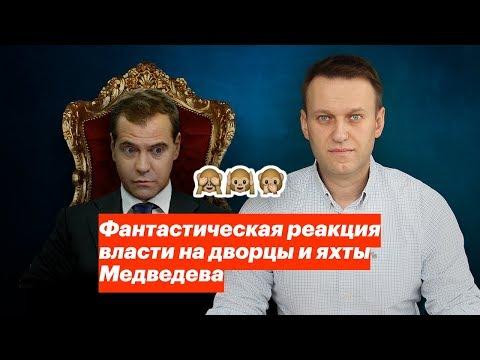 Реакция власти на дворцы и яхты Медведева