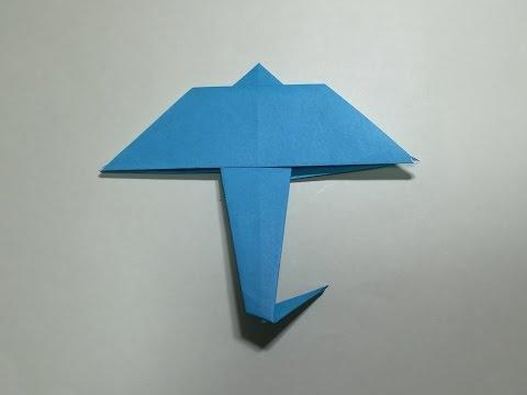 クリスマス 折り紙:折り紙 傘 折り方-origami-land.com