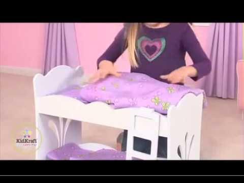 Girls Baby Dolls Bunk Bed For Any Royal Princess Baby Girl Doll KidKraft 60130