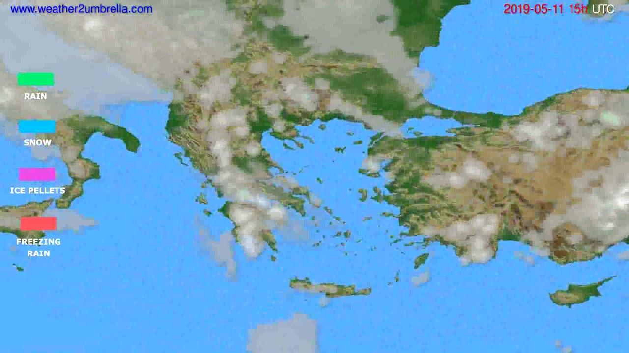 Precipitation forecast Greece // modelrun: 12h UTC 2019-05-08