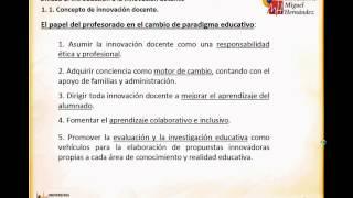 Umh0458 2013-14 Lec003 Unidad 1, Apartado 1 Introducción A La Innovación Docente