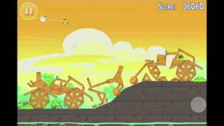 Angry Birds Seasons Go Green, Get Lucky 3 Star Walkthrough Level 10