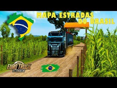 Mapa Estradas do Brasil v1.6.5
