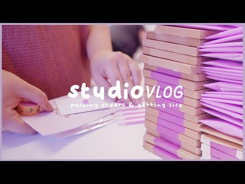 STUDIO VLOG | Packing Lots of orders... and I get sick 🤧| 046