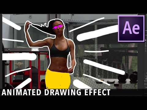Animated Drawing Music Video Effect Tutorial | After Effects CC 2017