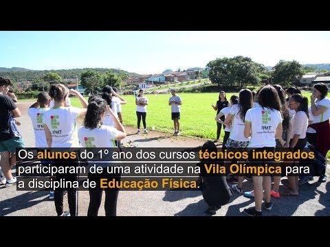 Alunos do primeiro ano participaram de uma atividade prática na Vila Olímpica