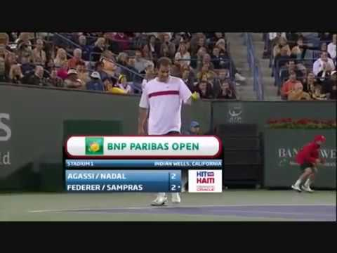 Federer tells Agassi to serve at 113mph but hits 114mph!