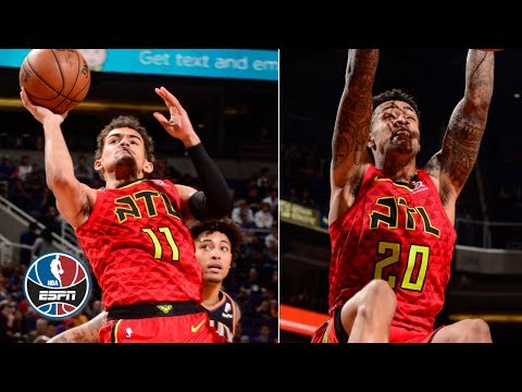 Video: Trae Young, John Collins charge Atlanta Hawks over Devin Booker, Phoenix Suns | NBA Highlights