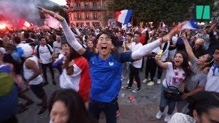 France - Belgique: Les images magnifiques de la joie au coup de sifflet final à la fanzone de Paris