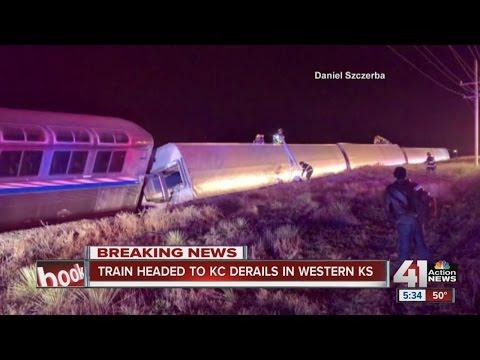 Amtrak train derails in southwest Kansas, 21 injured