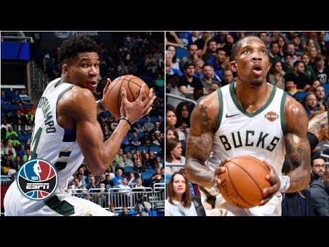 Video: Giannis Antetokounmpo, Eric Bledsoe combine for 55 in Bucks' win vs. Magic | NBA Highlights